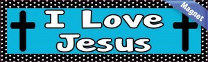 10in x 3in I Love Jesus Magnet Magnetic Vehicle Sign