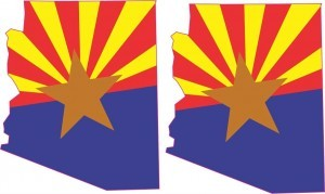 (2x) Die Cut Arizona Flag Stickers