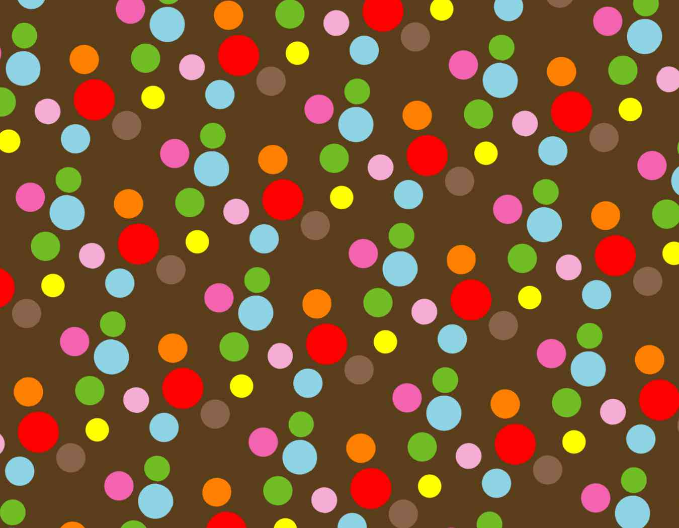 9in X 7in Assorted Color Polka Dots Vinyl Sticker Sheet