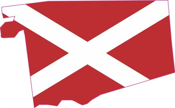 Die Cut Alabama Flag State Sticker