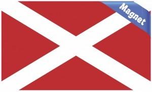 Inverted Alabama Flag State Magnet