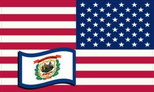 west Virginia flag sticker
