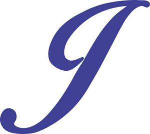Blue Cursive J Monogram Sticker