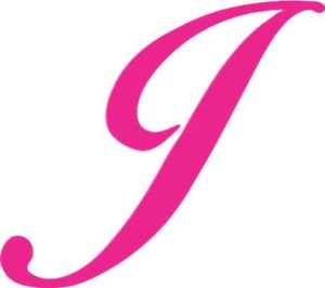 Pink Cursive J Monogram Sticker