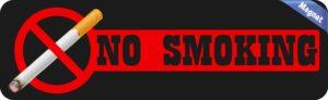 Black No Smoking Magnet