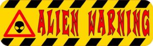 Alien Warning Magnet
