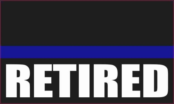 Retired Blue Lives Matter Magnet