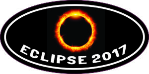 Oval Eclipse 2017 Sticker