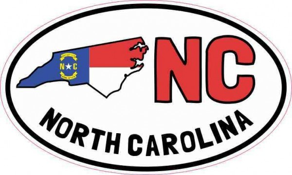 Oval NC North Carolina Sticker