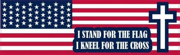 I Stand for the Flag I Kneel for the Cross Magnet