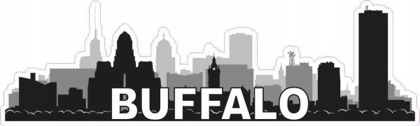 Buffalo Skyline Sticker