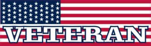 American Flag Veteran Bumper Sticker
