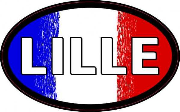 Oval French Flag Lille Sticker