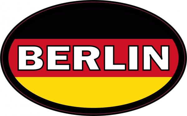 Oval German Flag Berlin Sticker