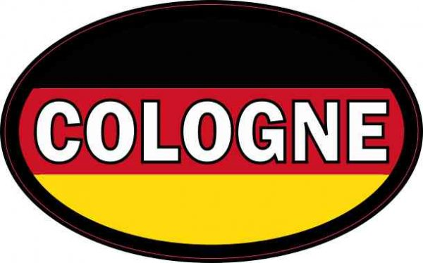 Oval German Flag Cologne Sticker