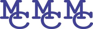 Die Cut Interlocked Blue MC Moffat County Stickers