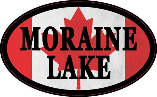 Oval Canadian Flag Moraine Lake Sticker