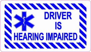 Driver Is Hearing Impaired Magnet