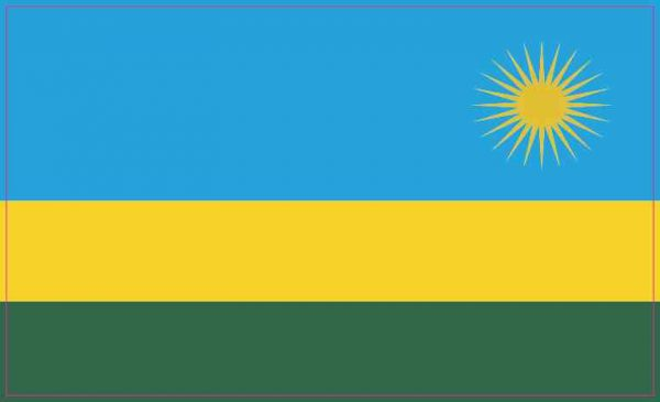 Rwandan Flag Sticker